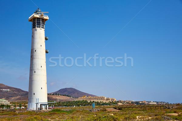 Morro Jable Matorral lighthouse Jandia Fuerteventura Stock photo © lunamarina