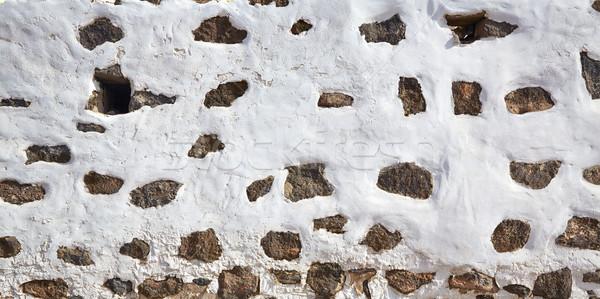 Canary Islands white wall whitewashed Spain Stock photo © lunamarina