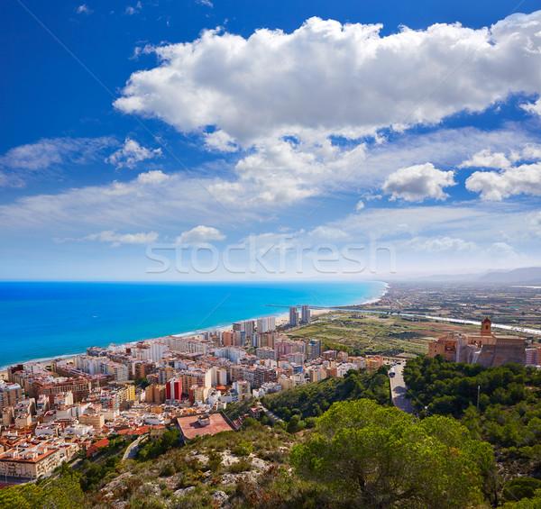 Strand antenne skyline dorp Valencia middellandse zee Stockfoto © lunamarina