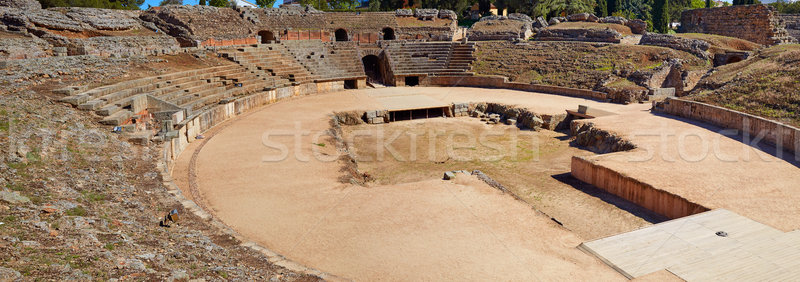 Merida in Badajoz Roman amphitheater Spain  Stock photo © lunamarina