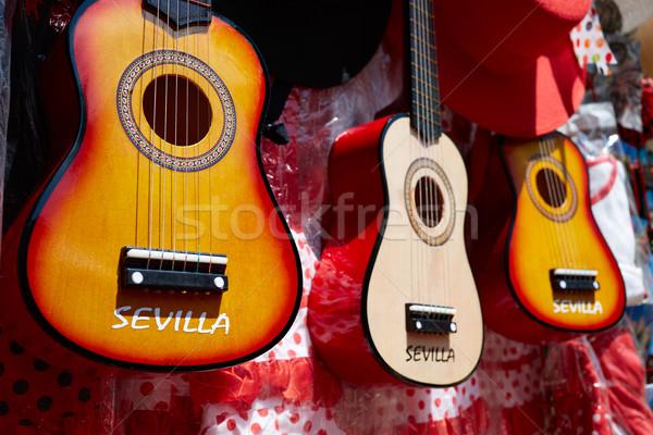 сувенир испанский гитаре Испания моде путешествия Сток-фото © lunamarina