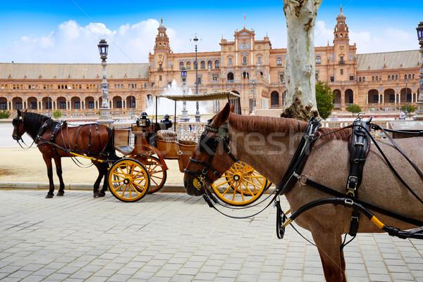 スペイン 馬 広場 市 旅行 アーキテクチャ ストックフォト © lunamarina