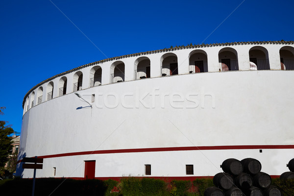 Zafra bullring in Extremadura of Spain Stock photo © lunamarina