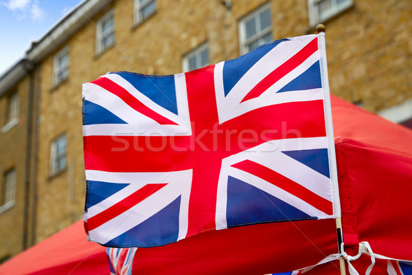 London Portobello road Market UK flag Stock photo © lunamarina