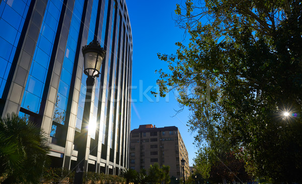 Aragon avenue in Valencia modern buildings Stock photo © lunamarina