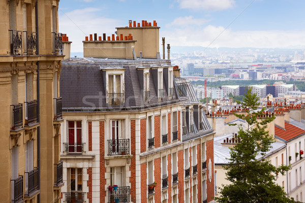 Paris Skyline montmartre France bâtiment Photo stock © lunamarina