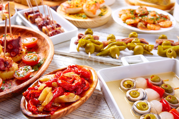 Stok fotoğraf: Tapas · gıda · İspanya · yemek · tarifleri · beyaz
