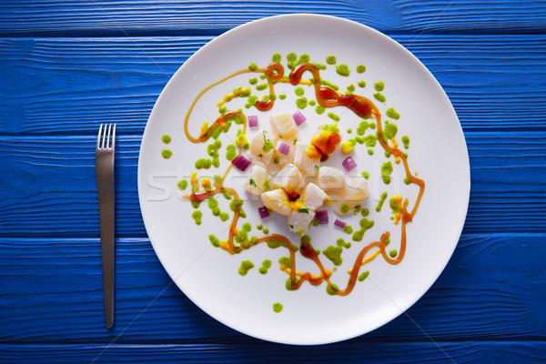 Ceviche recipe modern gastronomy style Stock photo © lunamarina
