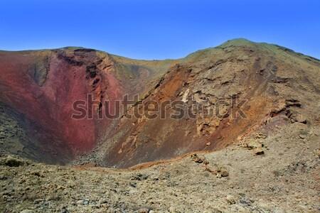 Vulcão cratera canárias céu paisagem montanha Foto stock © lunamarina