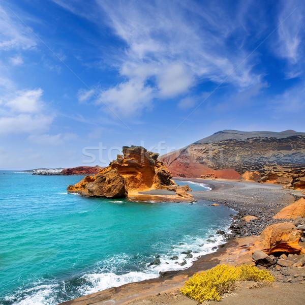 Lanzarote El Golfo Lago de los Clicos Stock photo © lunamarina