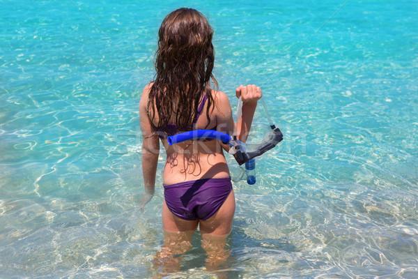 Foto stock: Agua · playa · nino · nina · vista