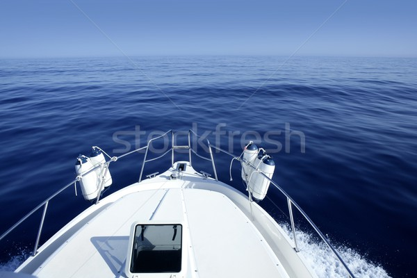 Stock photo: Boat on the blue Mediterranean Sea yachting