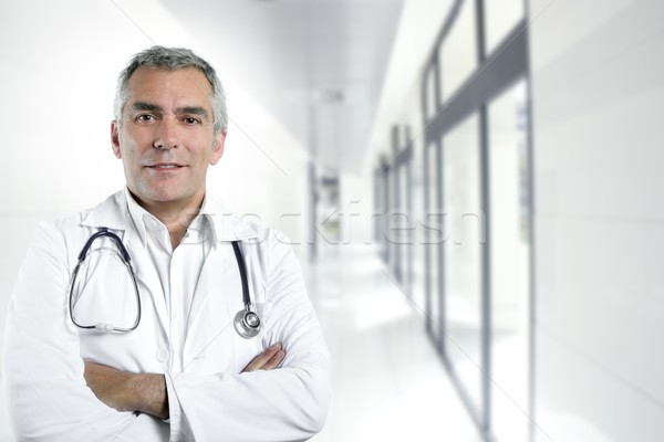 gray hair expertise senior doctor hospital portrait Stock photo © lunamarina