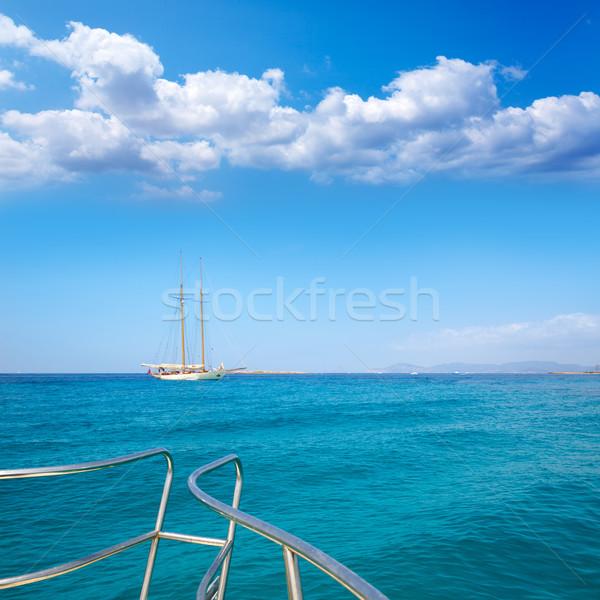 Illetes Illetas Formentera yacht sailboat anchored Stock photo © lunamarina