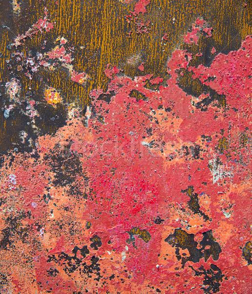 Grunge rojo Rusty colorido textura pared Foto stock © lunamarina