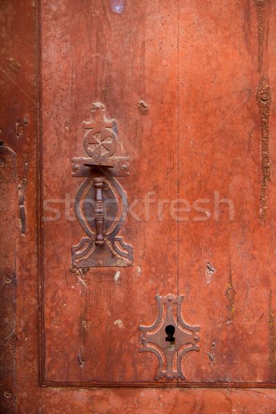 Vieux vintage porte serrure Photo stock © lunamarina