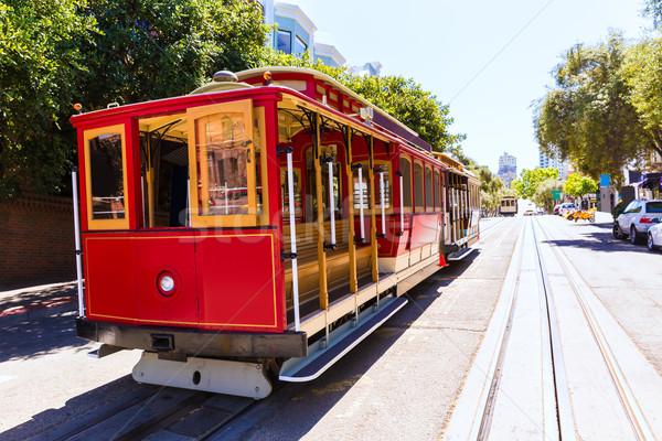 Stock photo: San francisco Hyde Street Cable Car California