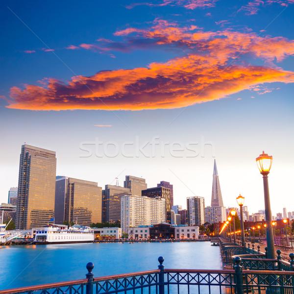 San Francisco pier pôr do sol Califórnia EUA céu Foto stock © lunamarina