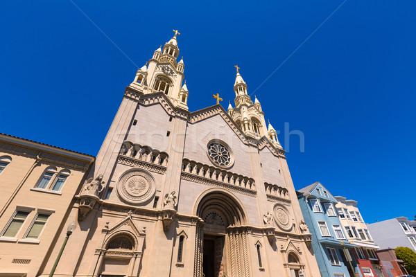 San Francisco St Peter and Paul Church at Washington Square Stock photo © lunamarina