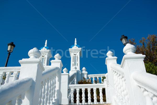 Benidorm balcon del Mediterraneo Mediterranean sea white balustr Stock photo © lunamarina