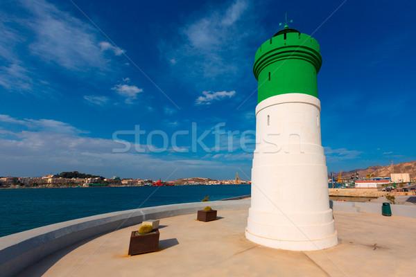 Jelzőtűz világítótorony Spanyolország mediterrán víz épület Stock fotó © lunamarina