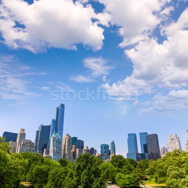 Central Park manhattan Nova Iorque céu primavera cidade Foto stock © lunamarina