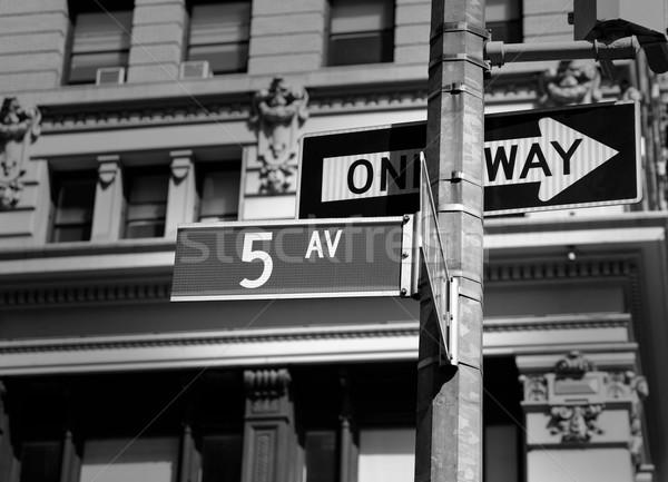 Signe New York USA noir affaires bâtiment Photo stock © lunamarina