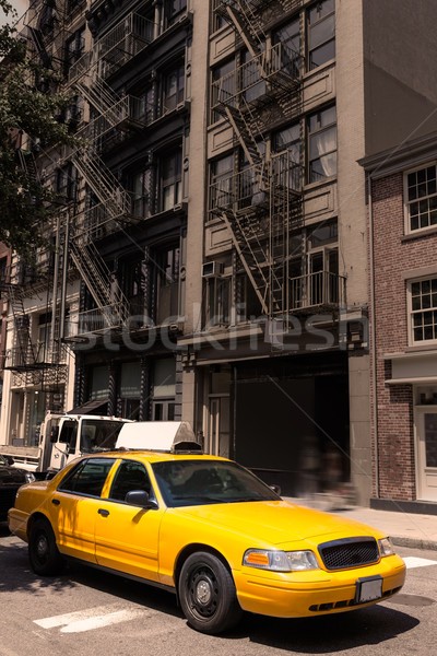 New York Soho buildings yellow cab taxi NYC USA Stock photo © lunamarina