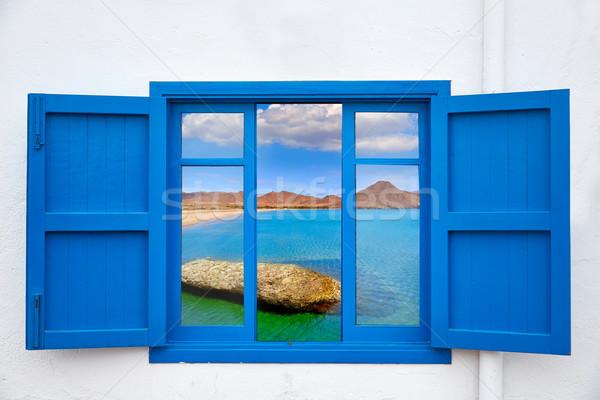 Almeria view from window of Cabo de Gata beach Stock photo © lunamarina