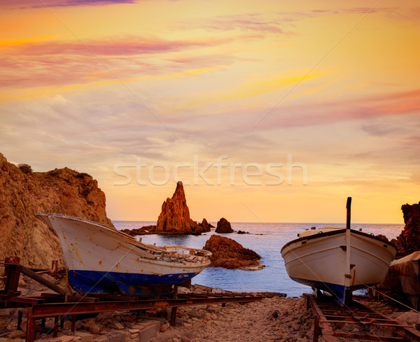 Almeria Cabo de Gata las Sirenas sunsets in spain Stock photo © lunamarina