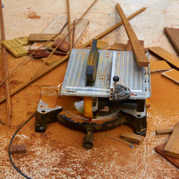 Tabel zag timmerman tool dek Stockfoto © lunamarina