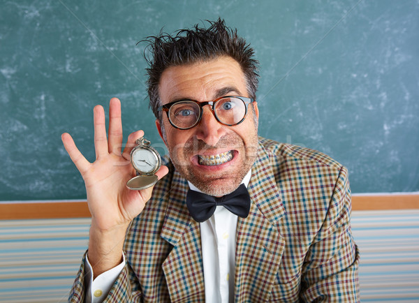 NERD глупый учитель Vintage цепь Сток-фото © lunamarina