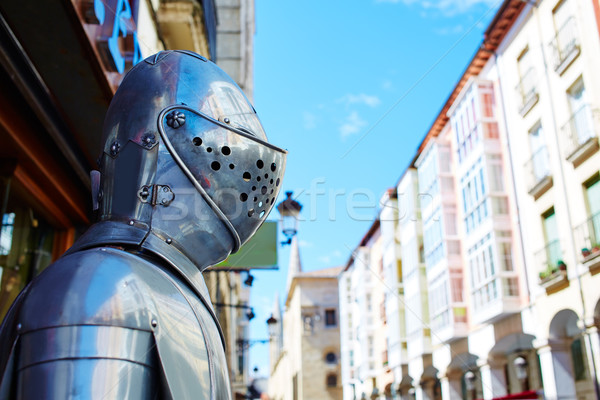 Burgos warrior medieval armor armour in Castilla Stock photo © lunamarina