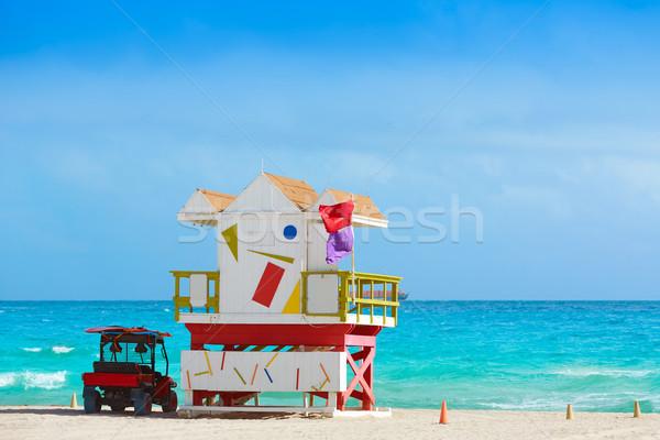 Miami tengerpart torony dél Florida USA Stock fotó © lunamarina