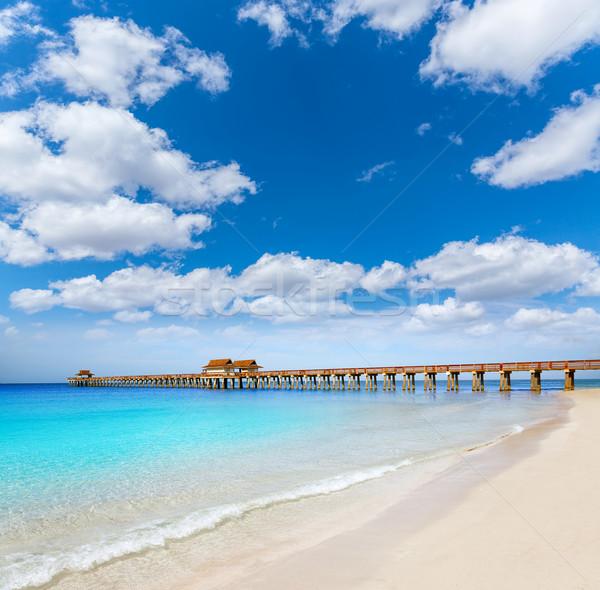 Stock fotó: Nápoly · móló · tengerpart · Florida · USA · napos · idő