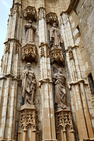Seville cathedral facade in Sevilla Spain Stock photo © lunamarina