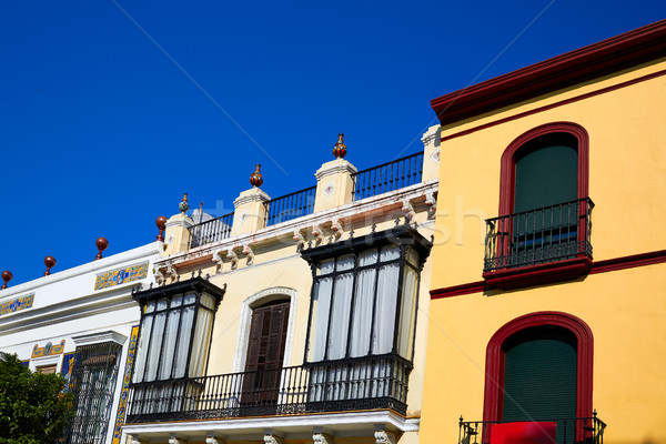 Triana barrio Seville facades Andalusia Spain Stock photo © lunamarina