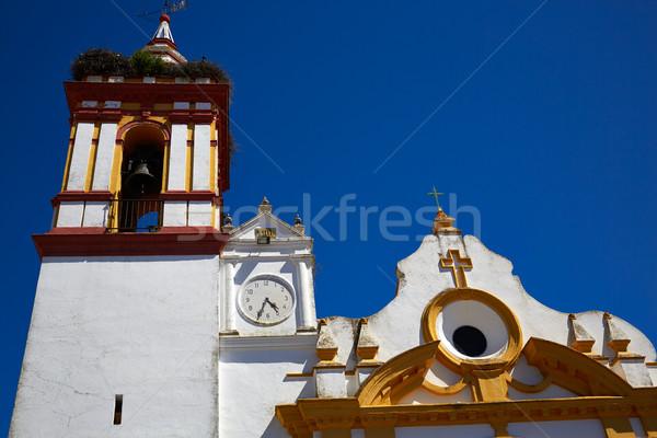 Castilblanco church by via de la Plata way Spain Stock photo © lunamarina