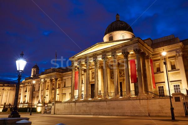 London National Galelery in Trafalgar Square Stock photo © lunamarina