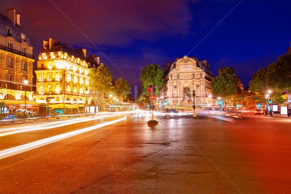 Paris yer aziz gün batımı Fransa şehir Stok fotoğraf © lunamarina