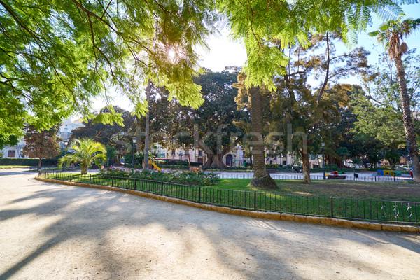 Valencia park kertek kilátás Spanyolország fa Stock fotó © lunamarina