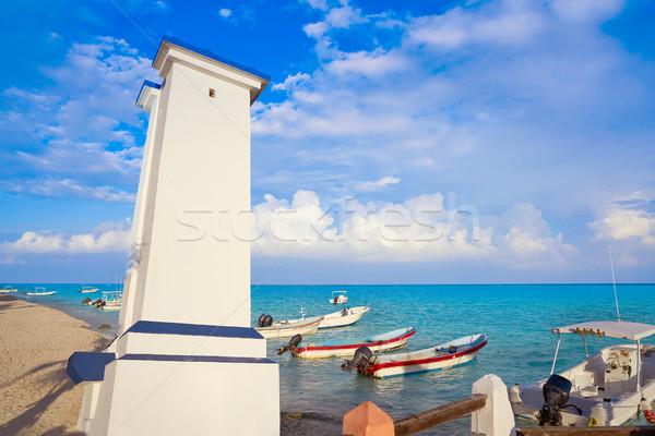Farol México velho praia paisagem verão Foto stock © lunamarina