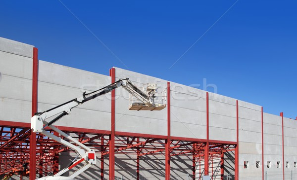 industrial building construction steel structure crane Stock photo © lunamarina