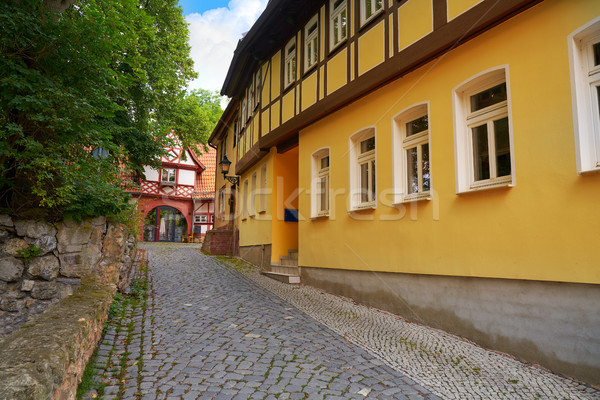 Nordhausen downtown facades in Thuringia Germany Stock photo © lunamarina