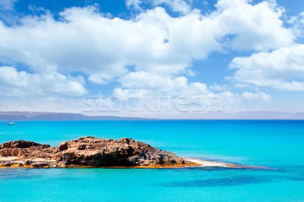 Balearic Formentera island in Escalo beach Stock photo © lunamarina