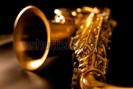 Classic music Sax tenor saxophone and clarinet vintage Stock photo © lunamarina