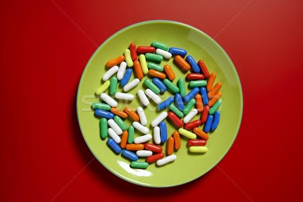 Colorido doce vermelho doces verde Foto stock © lunamarina