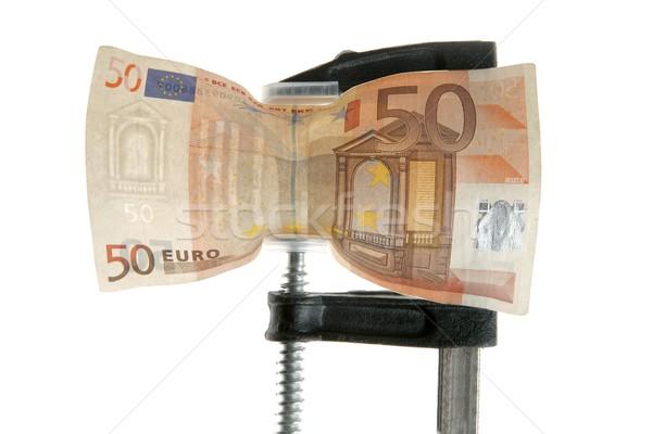 Euro bank note under pressure Stock photo © lunamarina