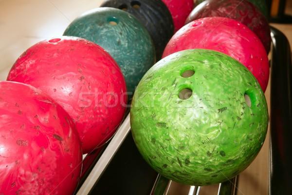 боулинг красный зеленый Сток-фото © lunamarina