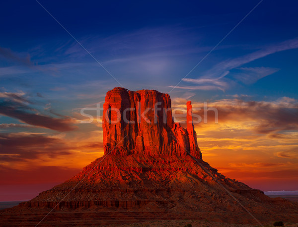 Valle ovest tramonto cielo colorato Utah Foto d'archivio © lunamarina